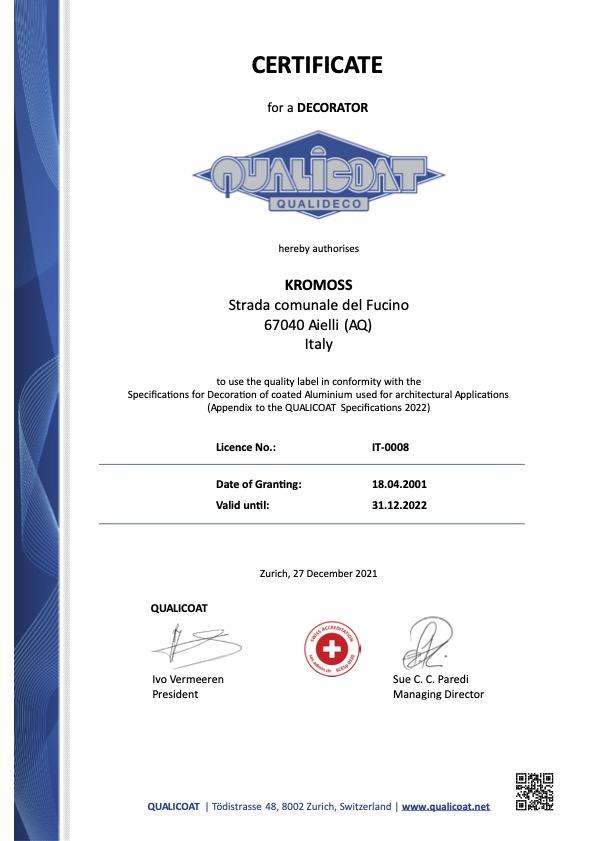 Certificato Qualideco